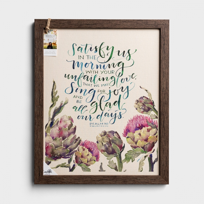 Your Unfailing Love - Natural Canvas Framed Wall Art
