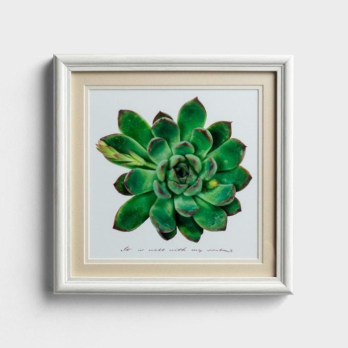 It Is Well - Succulent Framed Wall Art