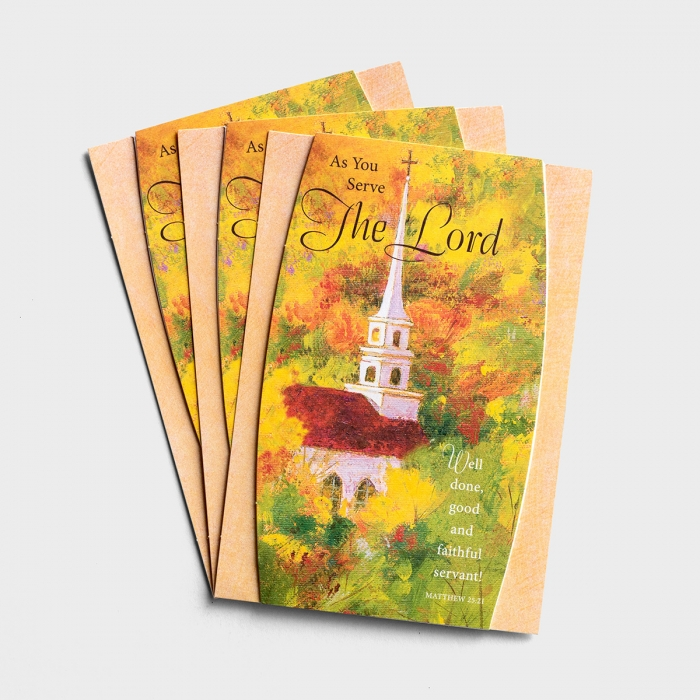 Thanksgiving - As You Serve the Lord - 3 Premium Cards