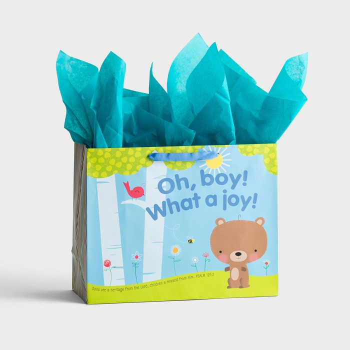 Oh, Boy - Large Gift Bag with Tissue