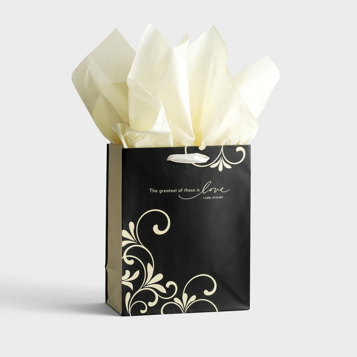 Mr. & Mrs. - The Greatest of These - Medium Gift Bag