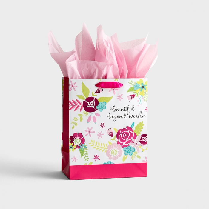 Beautiful Beyond Words - Medium Gift Bag with Tissue