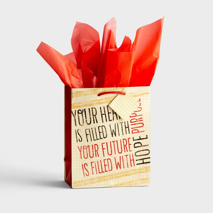 Purpose and Hope - Medium Gift Bag with Tissue
