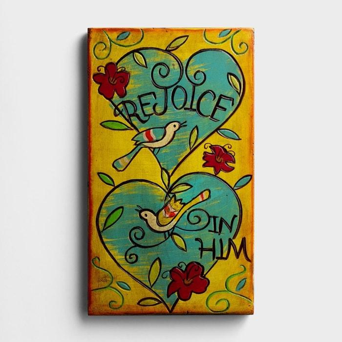 Rejoice in Him - Sculpted Art Panel