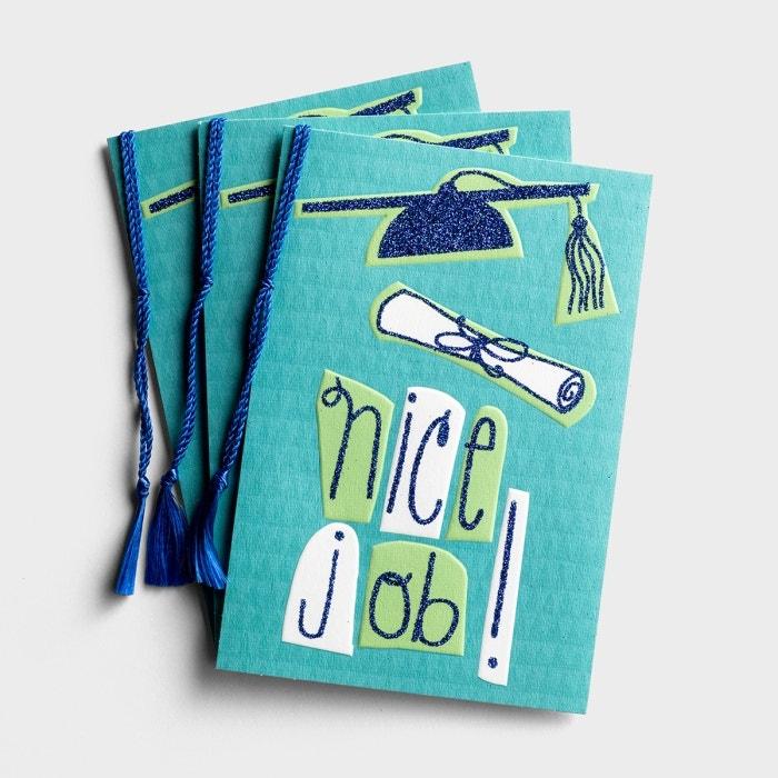 Graduation - Nice Job - 3 Premium Cards
