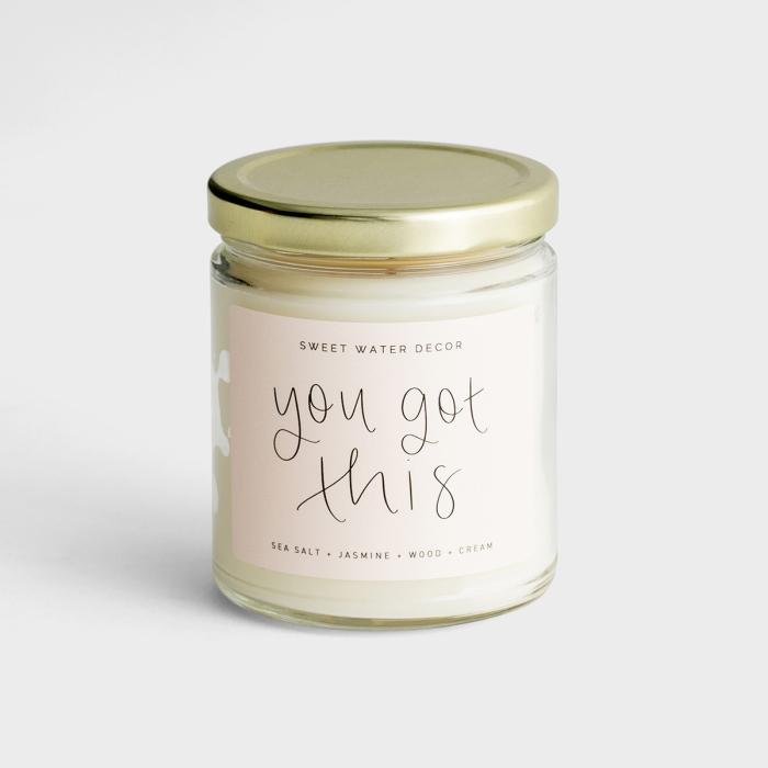 You Got This - Sea Salt + Jasmine + Wood + Cream Soy Candle