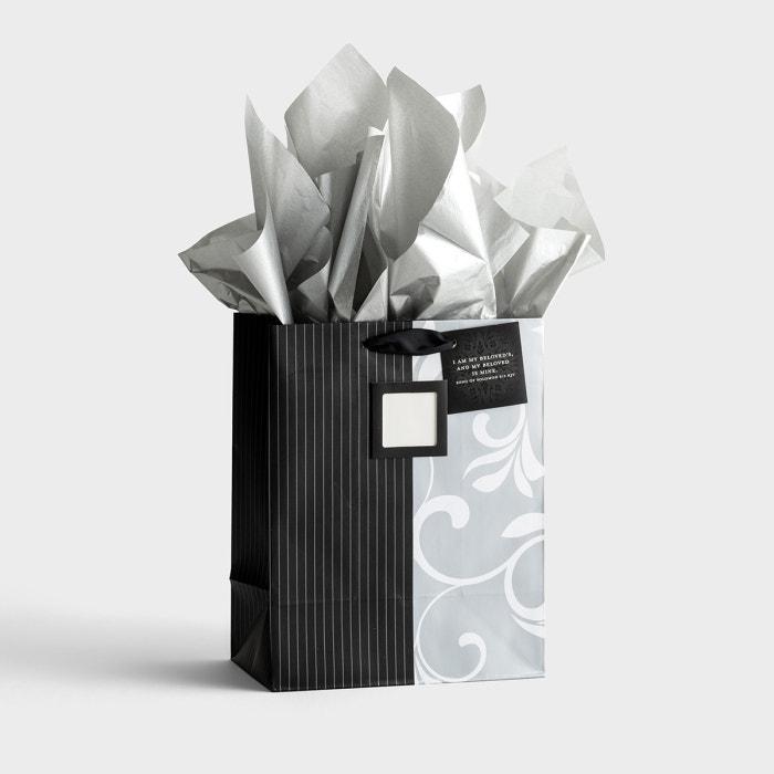 Monogram Wedding - Medium Gift Bag with Tissue