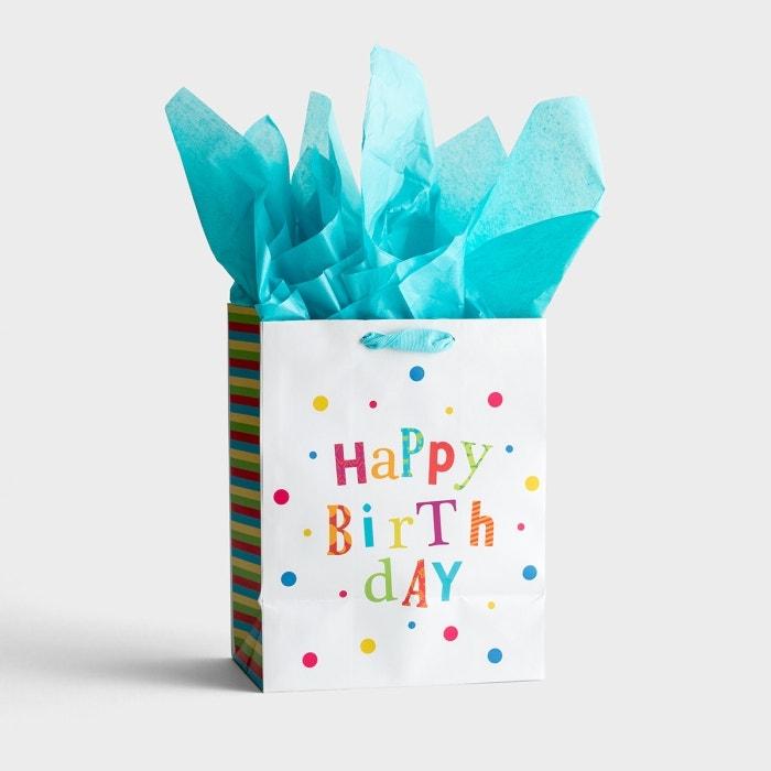 Happy Birthday - Medium Gift Bag with Tissue