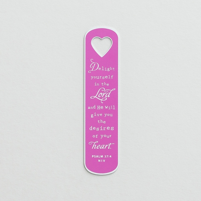 Delight Yourself in the Lord - Metal Open Silhouette Bookmark