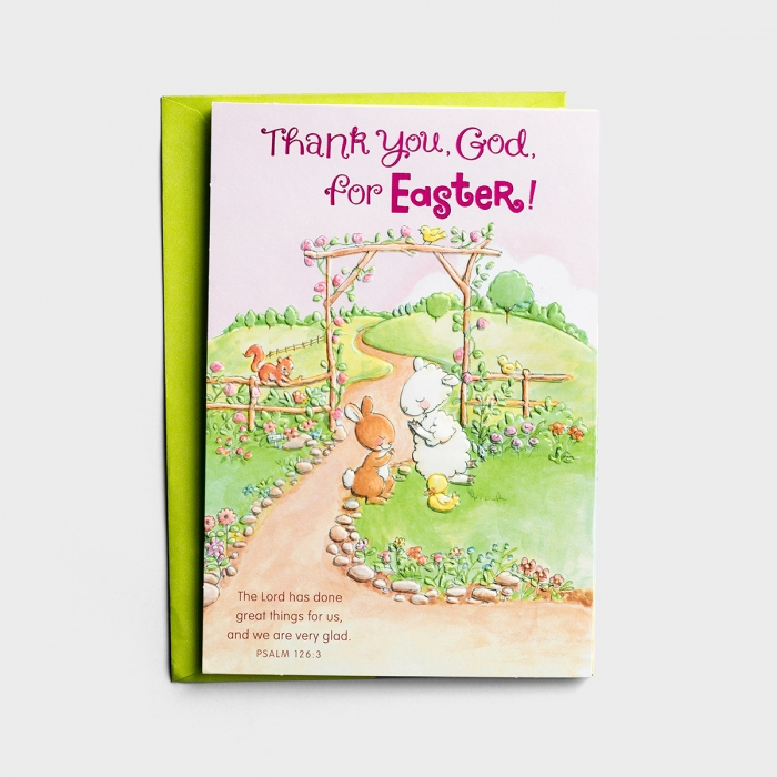 Really Woolly - Easter - Child - Thank You, God - 1 Card