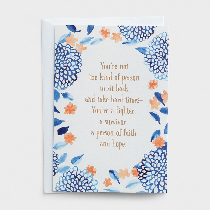 Difficult Times - You're a Fighter - 3 Greeting Cards