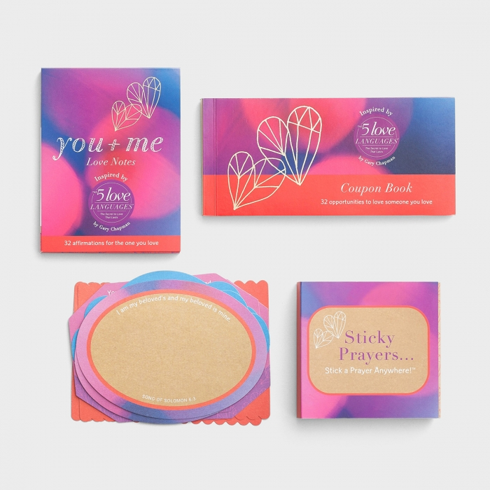 You + Me - Love Notes, Coupon Book, Correspondent Cards & Sticky Prayers Set