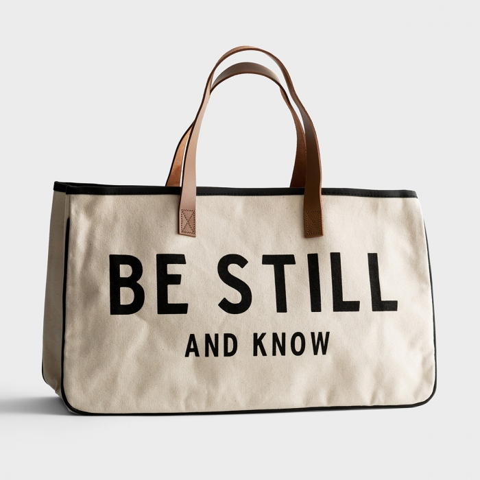 Be Still And Know - Canvas Tote Bag