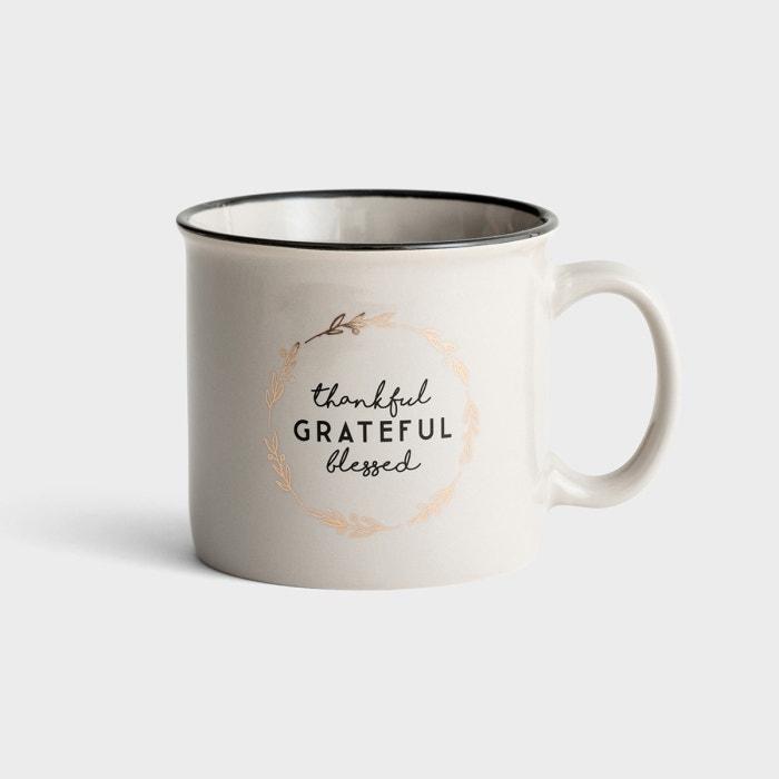 Thankful, Grateful, Blessed - Ceramic Mug