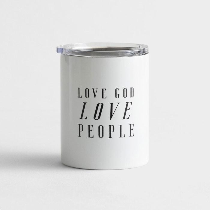 Stainless Steel Coffee Tumbler 12oz - Love God Love People