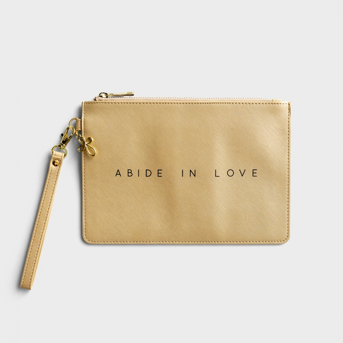 Abide In Love - Wristlet Pouch