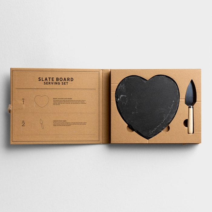 Serve With Love - Cutting Board Gift Set