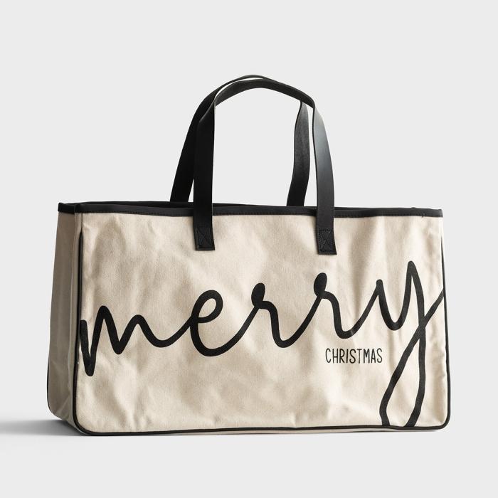Merry Christmas - Canvas Tote Bag