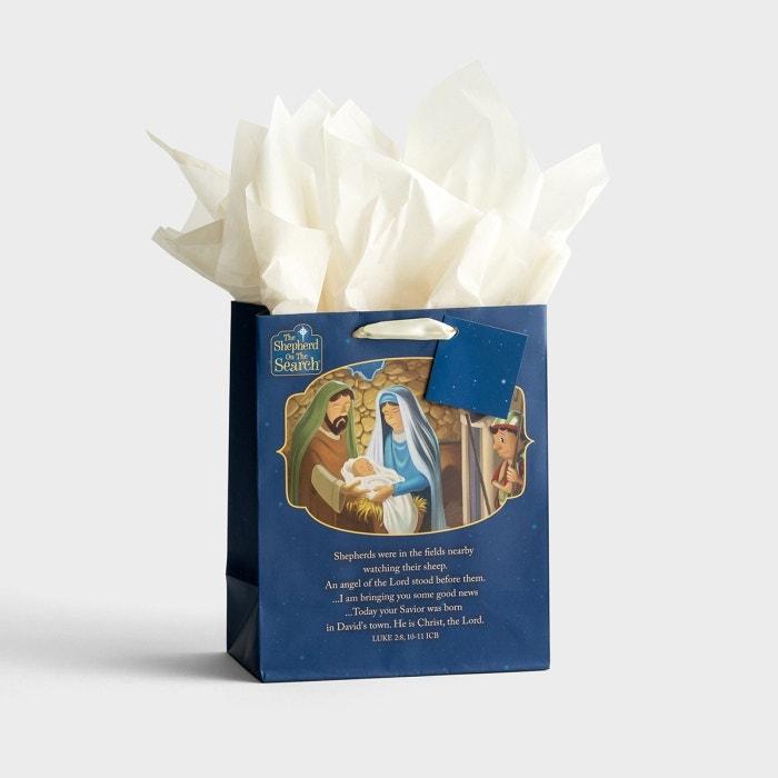 The Shepherd On The Search - Medium Christmas Gift Bag