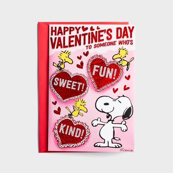 Valentine's Day - Peanuts - Sweet Fun Kind - 1 Musical Pop-Up Card