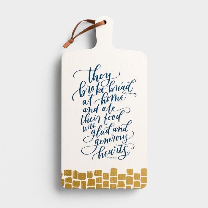 Generous Hearts - Decorative Bread Board