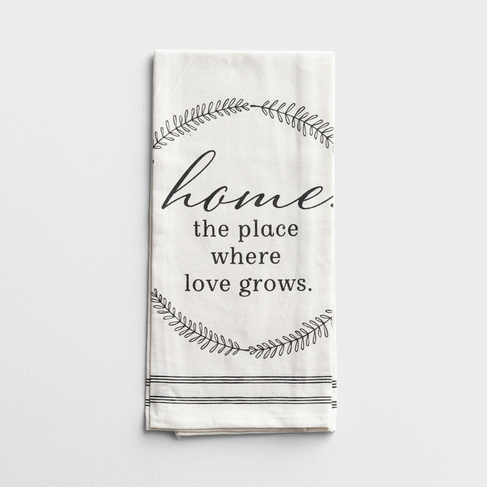 Home. The Place Love Grows - Tea Towel, Set of 2