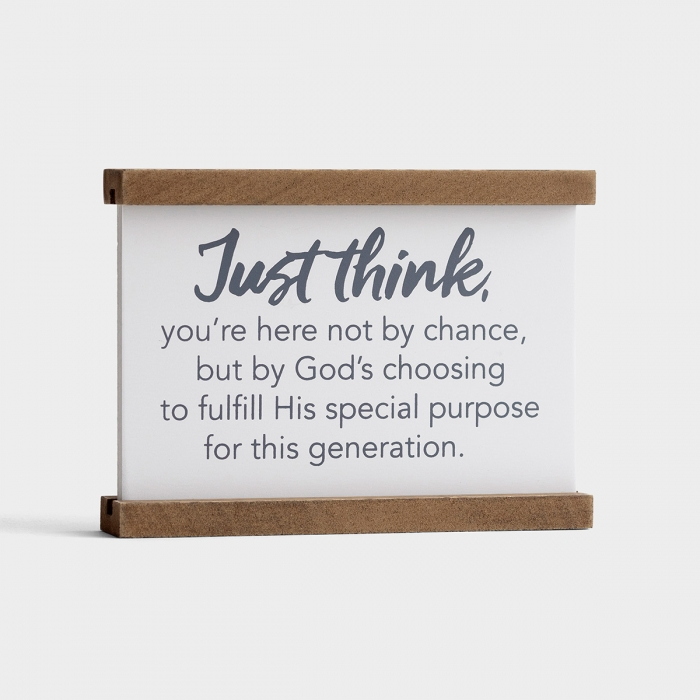 Just Think - Tabletop Plaque