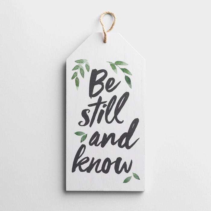 Be Still and Know - Hang Tag Wall Decor