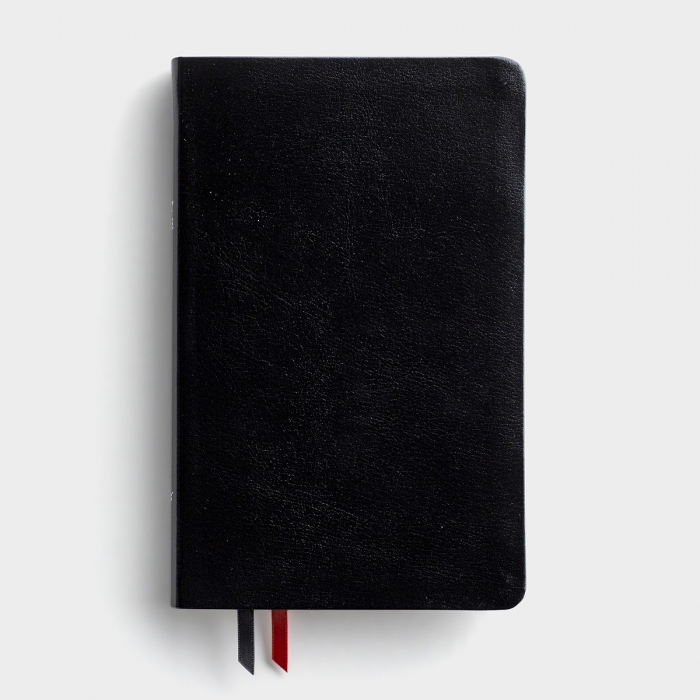 NIV Thinline Bible Black, Bonded Leather