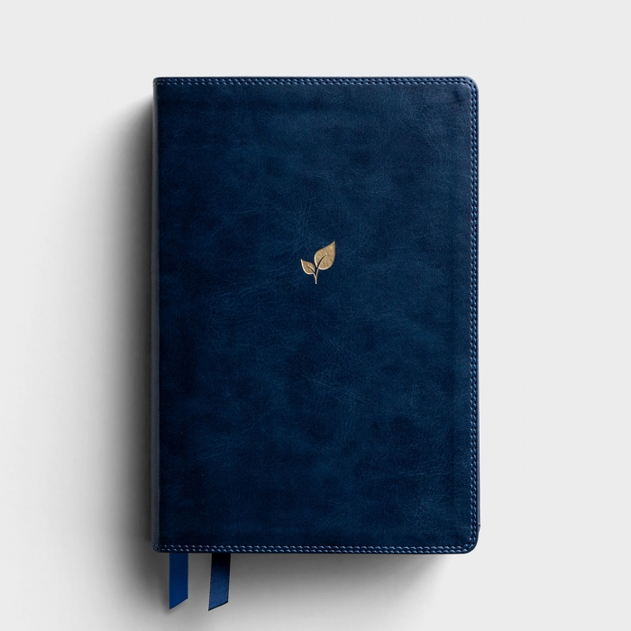 NIV The Lucado Encouraging Word Bible - Blue Leathersoft