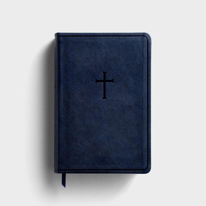 KJV Everyday Study Bible - Navy Cross LeatherTouch