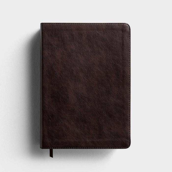 ESV Large Print Single Column Journaling Bible - Trutone, Deep Brown