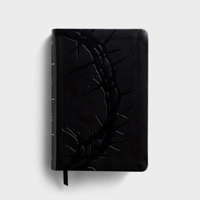 KJV Large Print Personal Size Reference Bible - Charcoal LeatherTouch