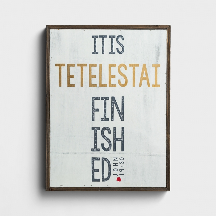 Tetelestai - It Is Finished - Framed Wall Board