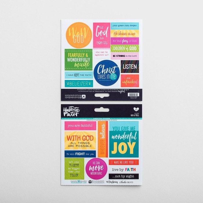 Illustrated Faith - 23-Piece Go & Tell Stickers