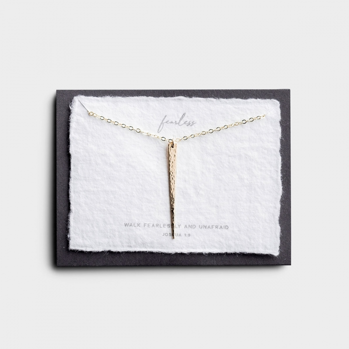 Fearless - Gold Pendant Necklace