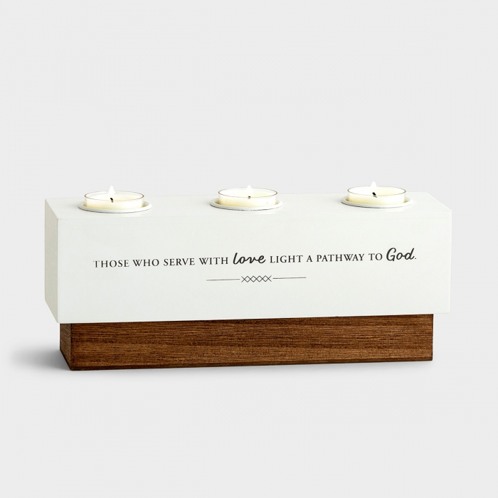 Serve with Love - Commemorative Candle Holder