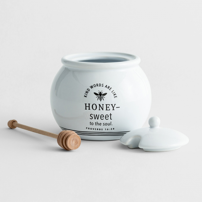 Sweet to The Soul - Honey Pot with Wood Dipper