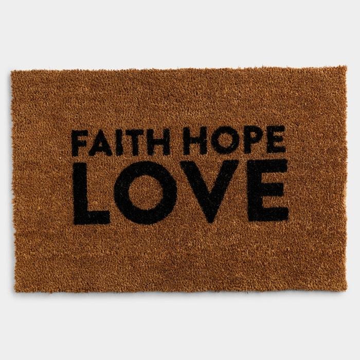 """Candace Cameron Bure - Faith Hope Love - Coir Doormat 24""""x36"""""""