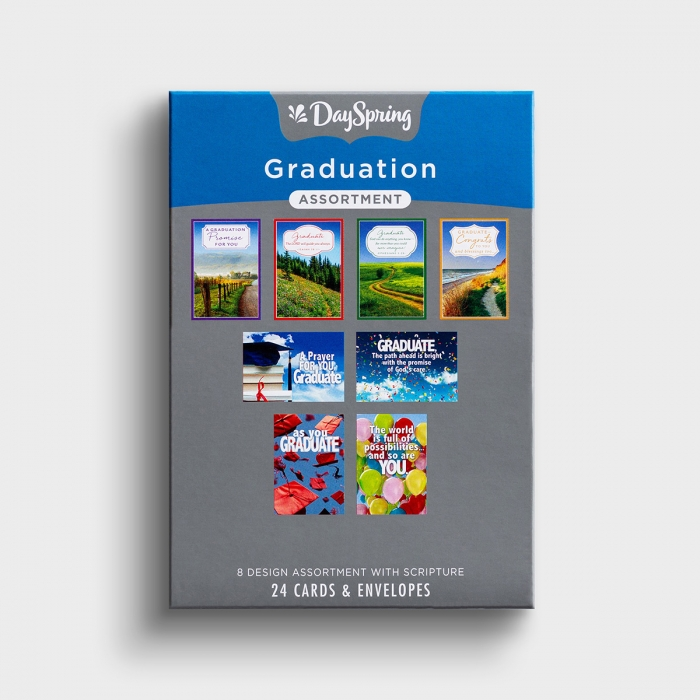 Graduation Assortment - Prayers and Promises - 24 Boxed Cards
