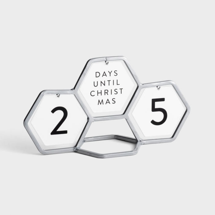 Candace Cameron Bure - Geometric Countdown Calendar with 8 Interchangeable Messages - Silver