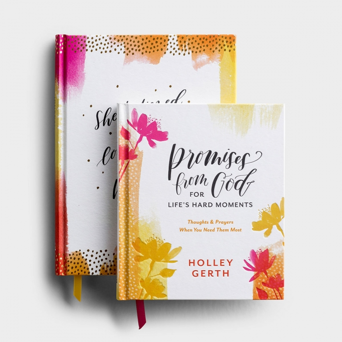 Holley Gerth - God's Promises & She Believed - Gift Book & Journal Gift Set