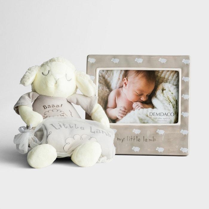 Little Lamb - Bodysuit, Lamb Plush & Frame Gift Set