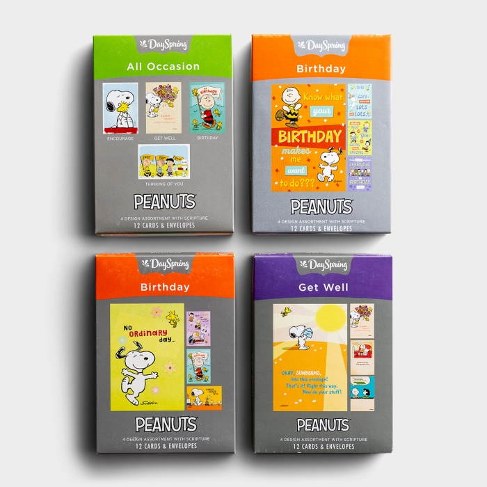 Peanuts - Bundle of 4 Boxed Cards