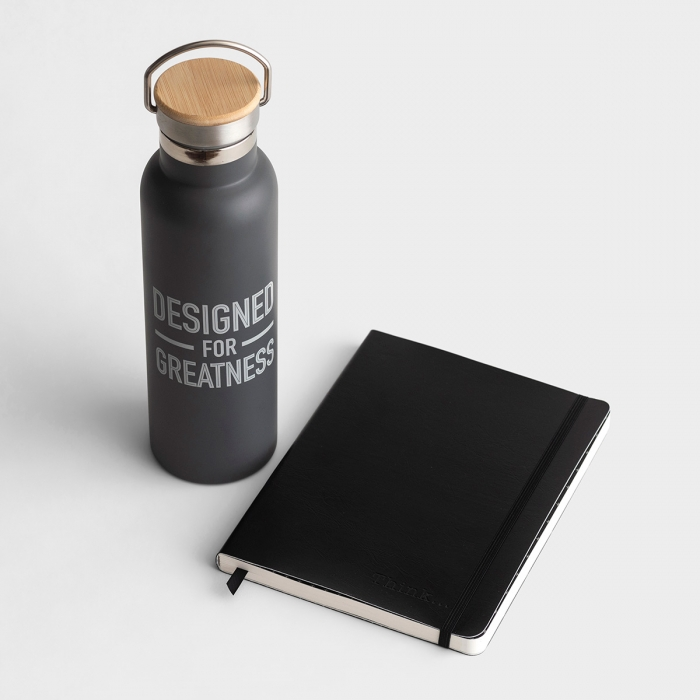Just Think - Journal & Water Bottle Gift Set