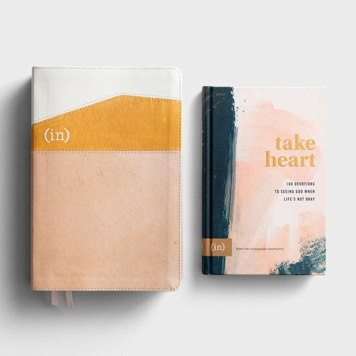 (in)courage Take Heart Devotional and Bible - Gift Set