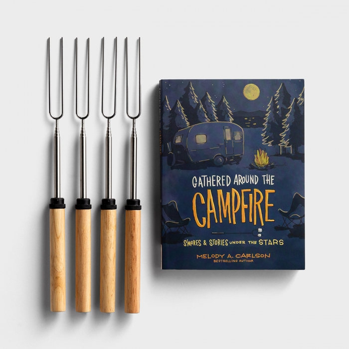 Around The Campfire - Book & S'mores Skewers - Gift Set