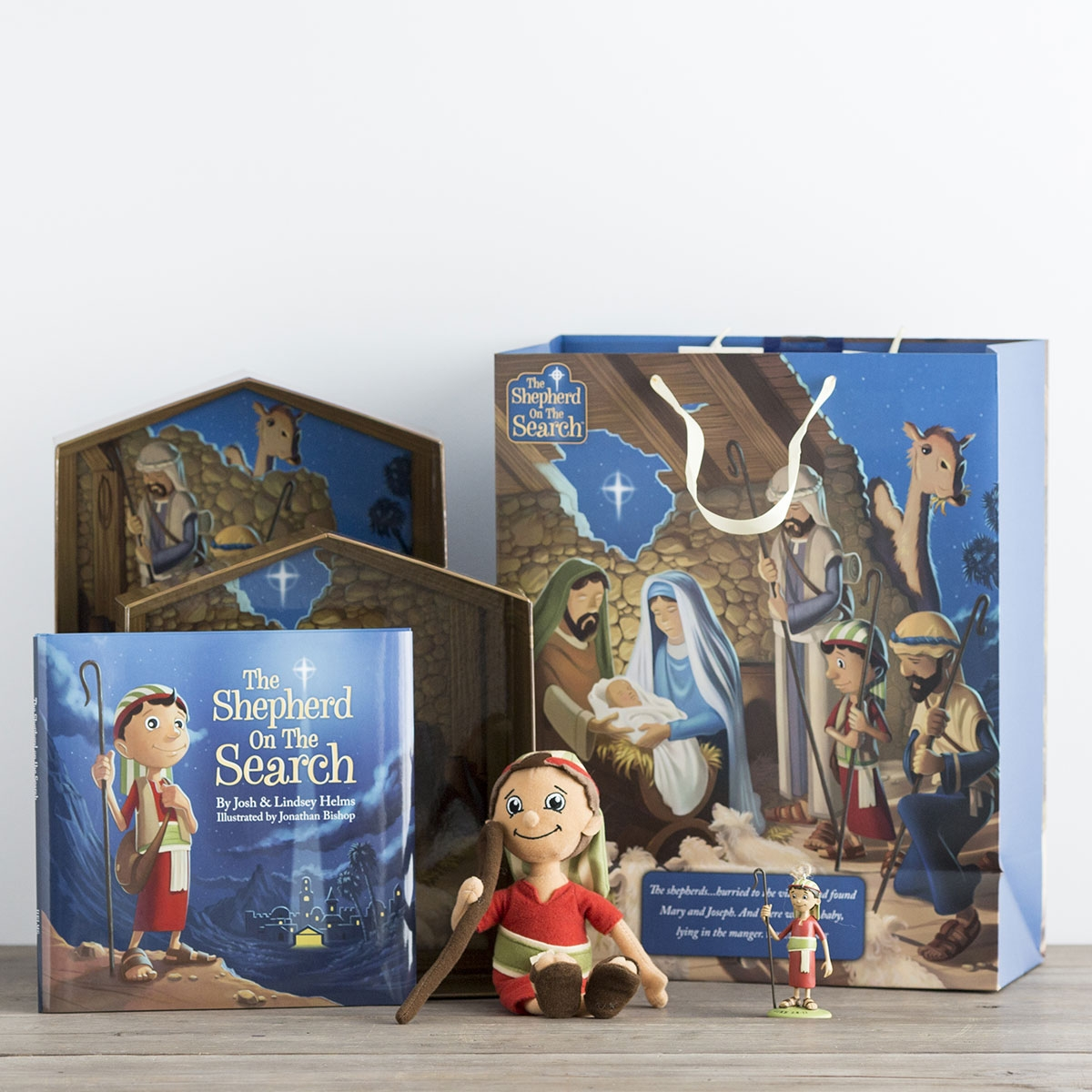 The Shepherd On The Search - Advent Activity Set, Ornament & Extra Large Gift Bag Set