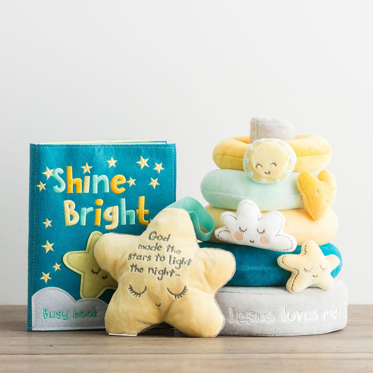 Sam & Essie - Jesus Loves Me - Stacker Rings, Crinkle Plush & Busy Book Gift Set