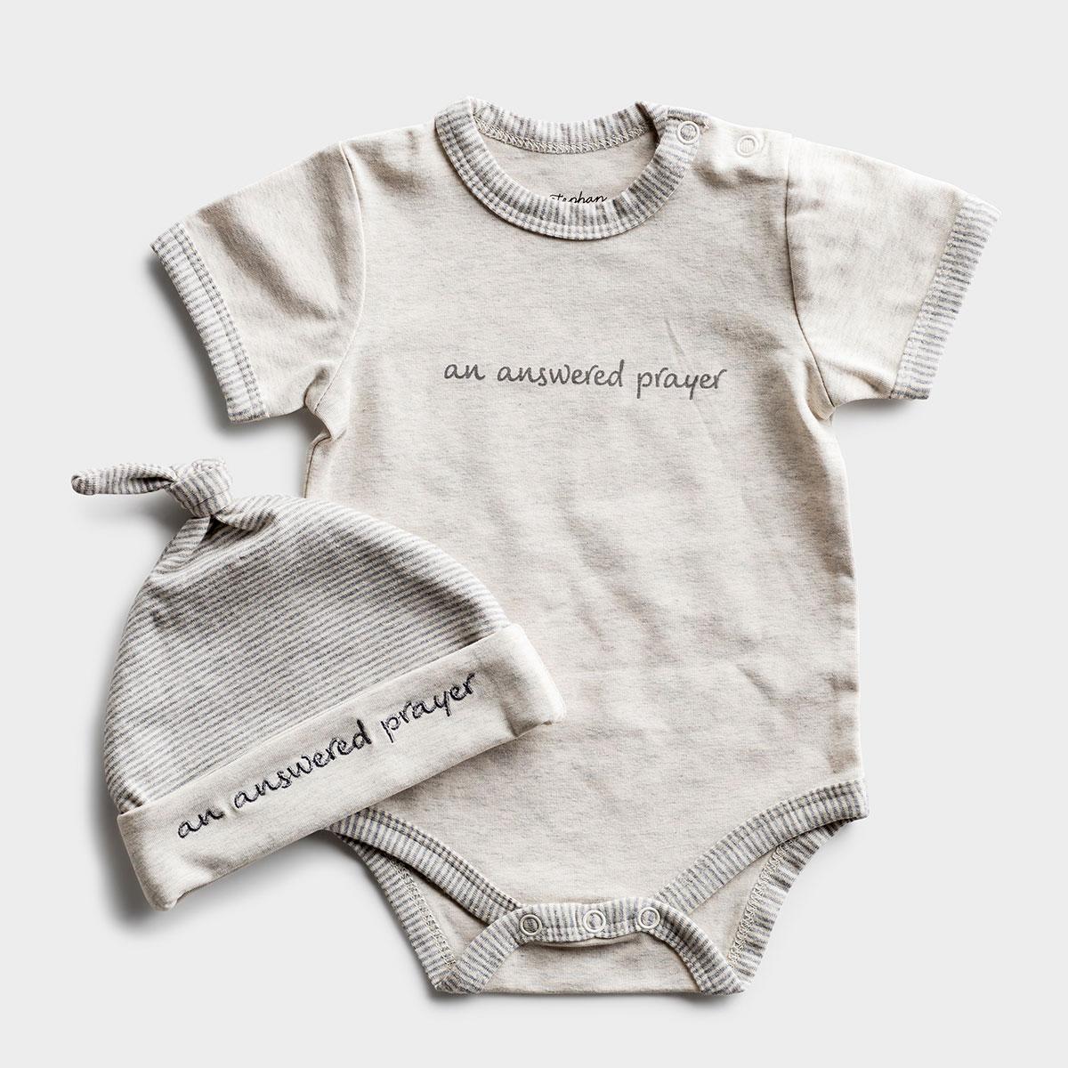 An Answered Prayer - Baby Bodysuit & Cap Gift Set